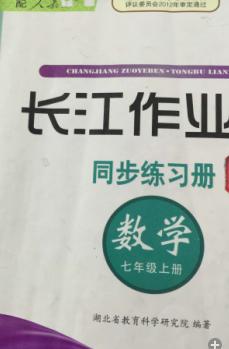 2015年长江作业本同步练习册七上数学参考答案